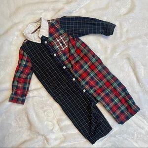 Ralph Lauren plaid one piece outfit size 6 months